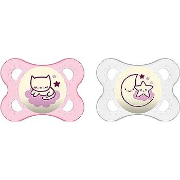 Girl Double Pack 6/mois MAM Babyartikel original silicone I Love Daddy