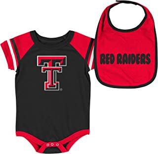 NCAA-Roll Out- Baby Short Sleeve Bodysuit and Matching Bib 2-Pack Set-Newborn and Infant Sizes