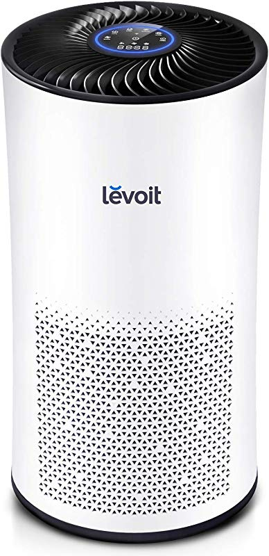 LEVOIT Air Purifier For Home Large Room With True HEPA Filter Air Filter For Allergies And Pets Smokers Mold Pollen Dust Quiet Odor Eliminators For Bedroom 538 Sq Ft LV H133
