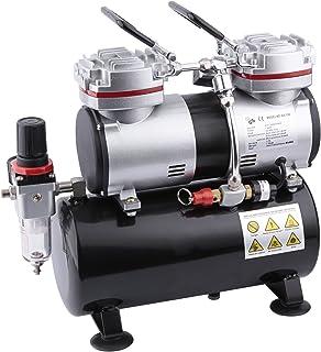 Compresor de aerógrafo Fengda FD-196 con calderín / regulador de presión / 3.5L / 6 bar / parada automática