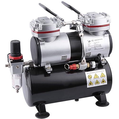 Compresor de aerógrafo Fengda FD-196 con calderín / regulador de presión / 3.5L