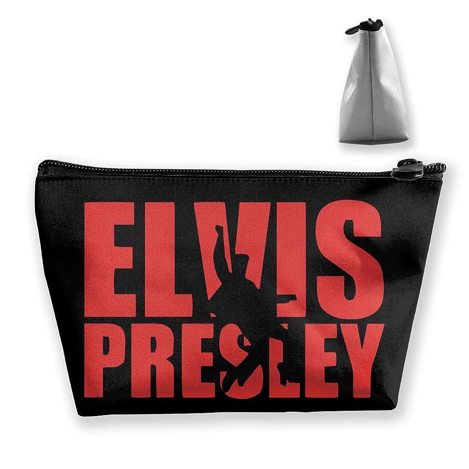 エルヴィス プレスリー 英字プリント Elvis Presley 収納バッグ 化粧バッグ メイクポーチ 化粧品収納 ラダー トラベルポーチ 小物入れ 普段使い 機能的 大容量 旅行も便利 撥水する防水ポーチ ユニークバック
