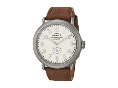 Shinola Detroit 47 mm Runwell Sub Second (Ivory/Oatmeal Leather) Watches