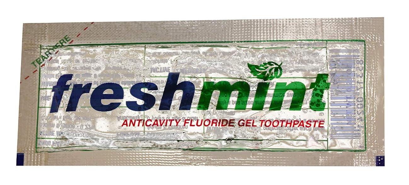 通知代数お茶Freshmint Single use Clear Gel Toothpaste-packet Case Pack 1000 by Freshmint [並行輸入品]