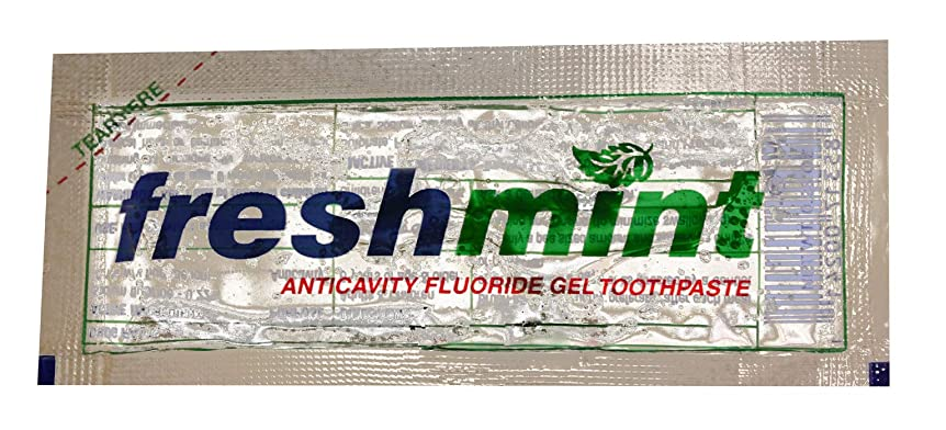 タオルアルプス不忠Freshmint Single use Clear Gel Toothpaste-packet Case Pack 1000 by Freshmint [並行輸入品]