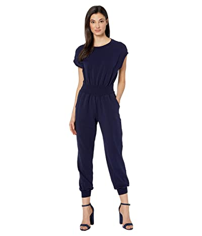 La Vie Rebecca Taylor Sleeveless French Terry Jumpsuit (Midnight Navy) Women