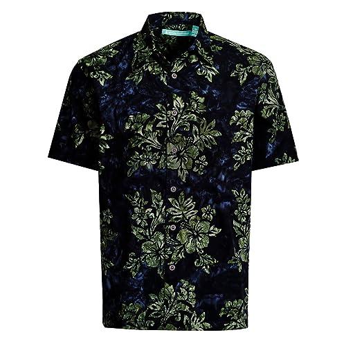 0095f8d3d Artisan Outfitters Mens Crystal Cove Batik Cotton Hawaiian Shirt
