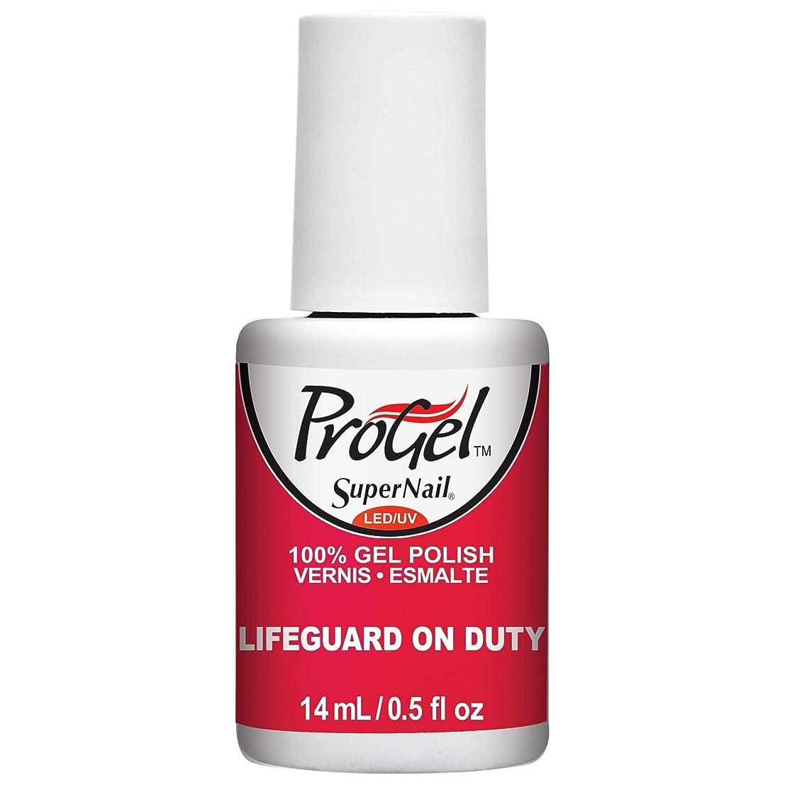 カストディアン増加する敬SuperNail ProGel Gel Polish - Lifeguard on Duty - 0.5oz / 14ml