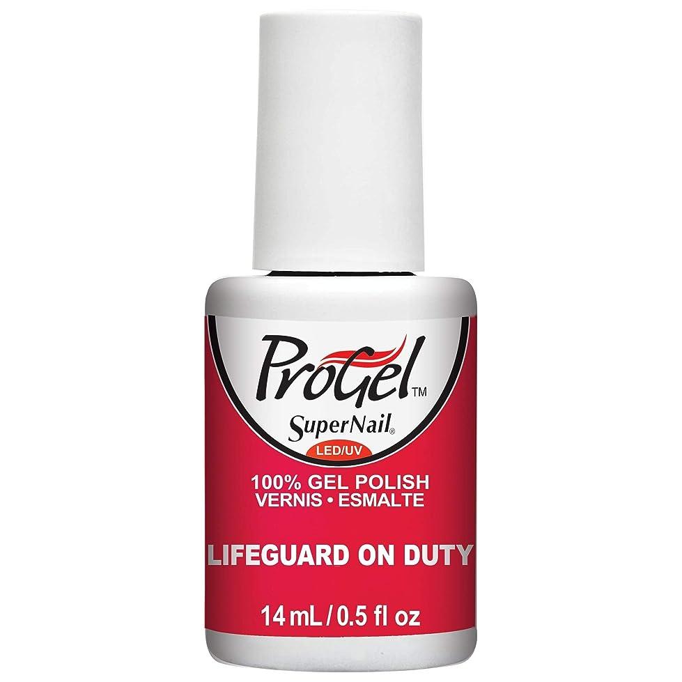 に対応するマントルあいまいさSuperNail ProGel Gel Polish - Lifeguard on Duty - 0.5oz / 14ml