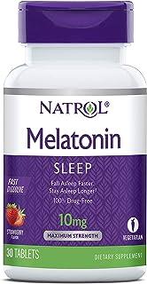 Natrol Melatonin Fast Dissolve Tablets, Helps You Fall Asleep Faster, Stay Asleep Longer, Faster Absorption, Maximum Stren...