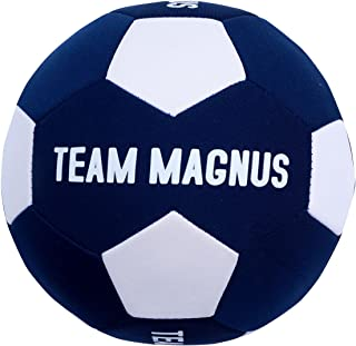 TEAM MAGNUS Beach Volleyball/Soccerball - Soft Inflatable Beach Ball with Neoprene Cover - Lightweight No-Sting Soccer/Vol...