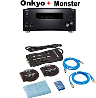 Onkyo TX-RZ830 9.2 Channel 4K Network A/V Receiver Black + Monster Home Theater Accessory Bundle Bundle