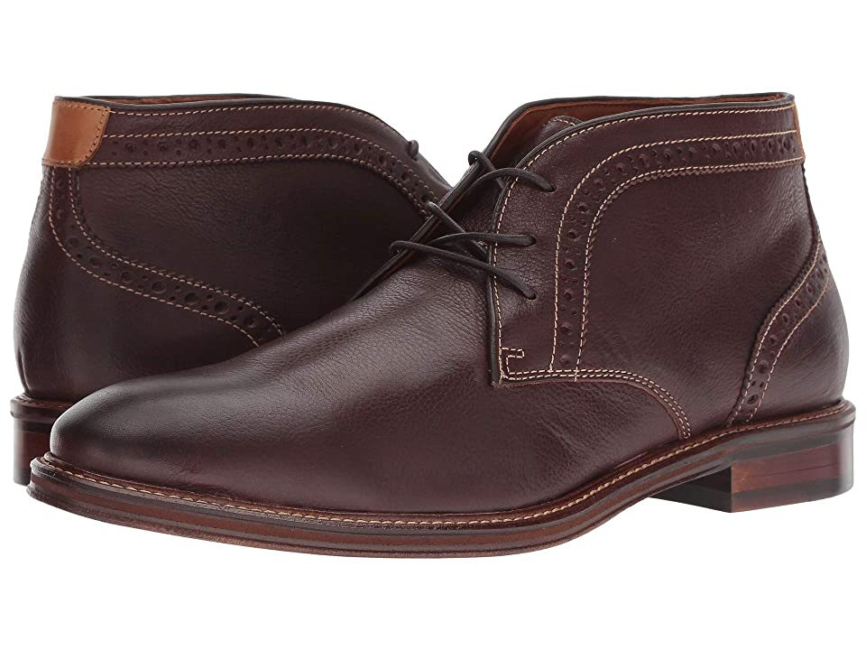 Johnston & Murphy Warner Chukka (Mahogany Full Grain) Men