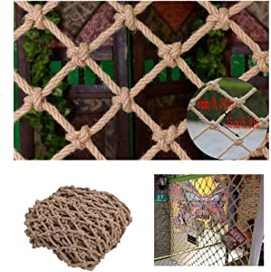 HWJ Climbing Rope Net Children s Stairs Safety Net Indoor And Outdoor Railing Safety Net Hanging Net Fence Net Cat Net Hanging Clothes Net Retro Bar Decoration Net  Size 2x9m