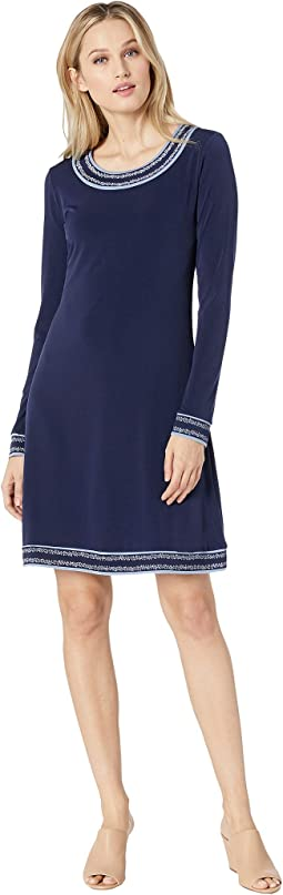 Prairie Long Sleeve Border Dress
