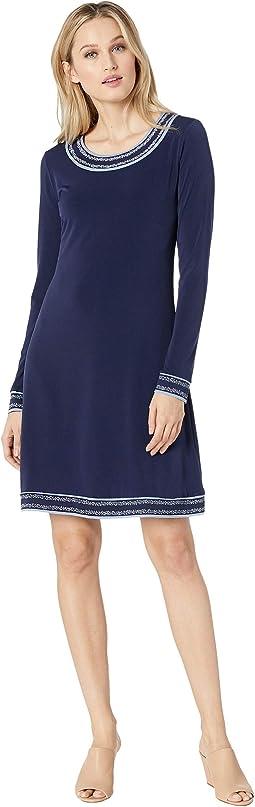 49f973b789 MICHAEL Michael Kors. Pucker Square Neck Midi Dress.  135.00. True Navy