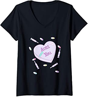 I Love Heart Ants V-Neck T-Shirt