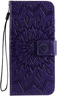Hllycr A31 2020 Leather Flip Case Flip Kickstand Case with Card Slots Protective Cover for Oppo A31 2020 - Purple