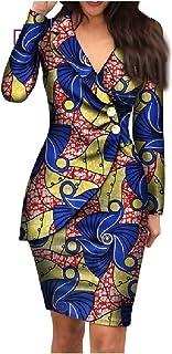 neveraway Women Premium Plus Size Dashiki Blazer African Printed Dress