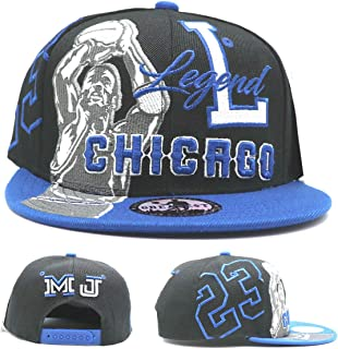 Greatest 23 Chicago New Leader Legend Youth Kids MJ Shooter Black Blue Era Snapback Hat Cap 19in to 21in Head Size