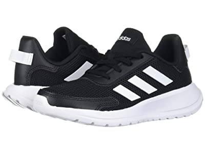 adidas Kids Tensaur Run (Little Kid/Big Kid) (Black/White) Boy