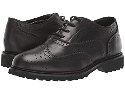 Kenneth Cole Reaction Kids Wing Brogue Leather (Little Kid/Big Kid) (Black) Boy