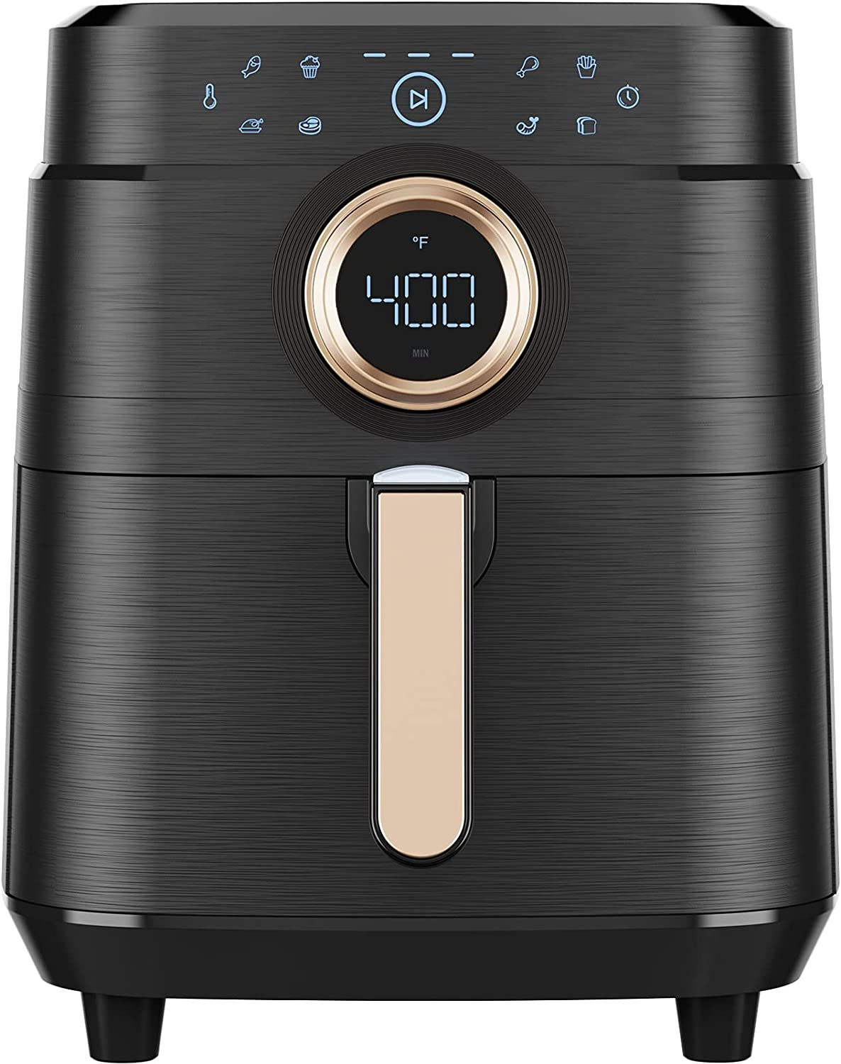 Air Fryer, 5.8 QT Airfryer Oven Large Air Fryer 1700W 8-in-1 with Touch Screen Air Fryers Detachable Dishwasher Safe Nonstick Basket Freidora de Aire 36 Recipes BPA & PFOA Free Black Air Fryer