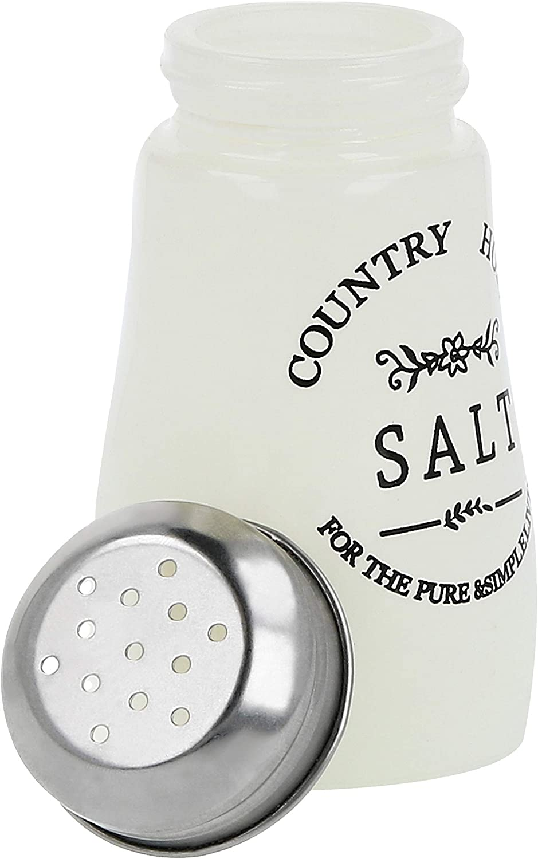 Salzstreuer und Pfefferstreuer im altenglischen Landhausstil Country-//Western-Style 04 St/ück com-four/® 4x Gew/ürzstreuer aus Glas optimal f/ür grobes Salz /& Peffer