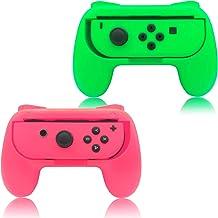 Aderência para Nintendo Switch Joy Con, Green and Pink