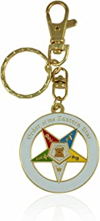 Order of the Eastern Star Key Chain with Purse Hook/Belt Clip