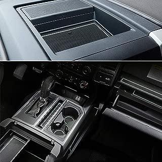 Auovo Anti-Dust Interior Cup Mats Door Gate Slot Pad Storage Mats Ford F150 2015 2016 (29PCS/Set 2015-2016, White)