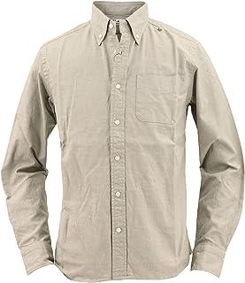 [SWEEP!! LosAngeles スウィープ ロサンゼルス] メンズ シャンブレー ボタンダウンシャツ CHAMBREY KHAKI(カーキ)