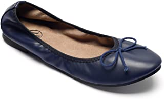 Trary Women's Casual Slip on Bow Ballet Flats