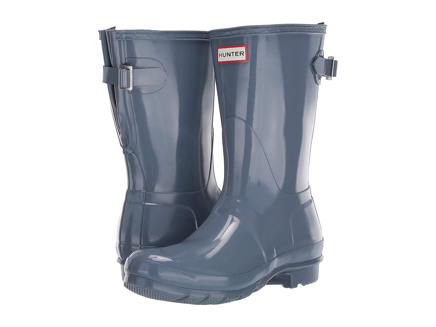 事故クーポン熟読[ハンター] レディースレインブーツ?長靴 Original Back Adjustable Short Gloss Rain Boots [並行輸入品]