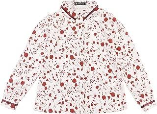 Allegra K Women's Point Collar Floral Long Sleeves Button Up Shirt
