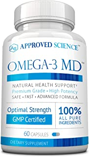 Omega-3MD - Fish Oil EPA & DHA - Improve Cardiovascular, Cognitive, and Joint Health - 1 Bottle Supply