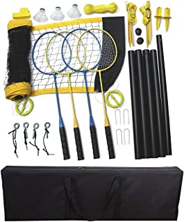 Driveway Games Portable Badminton Set 4 Rackets, 3 Birdies & Net Kit