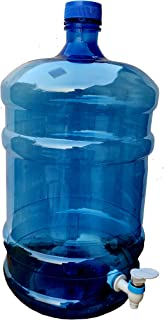 Dhavesai Universal Chetan Plastic Water Dispenser Bottle - 20 LTR with tap