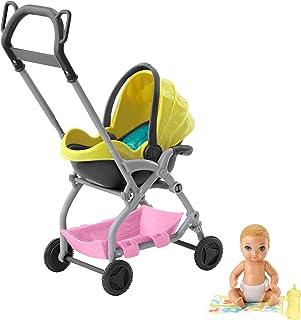 comprar comparacion Barbie Skipper Muñeca Pequeña Bebé con Carrito Muñeca y Conjunto de Juego Skipper Canguro de Bebés de Barbie (Mattel GFC18...