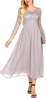 Best grey long sleeve formal dress Reviews