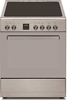 Daewoo Ceramic Cooker With Electric Oven 60/60cm, Silver -DCR-665PT.