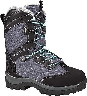 Klim Aurora GTX Women's Snocross Snowmobile Boots Boots - Gray/Black Size 9