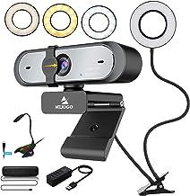 1080P 60FPS Streaming Webcam Kits, NexiGo AutoFocus FHD Webcam with Privacy Cover, 3.5 Inch Selfie Ring Light, USB Speaker...