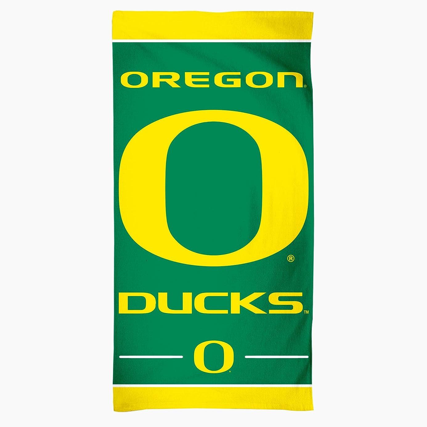 NCAA Oregon Ducks Fiber Beach Towel, 30 x 60-Inch