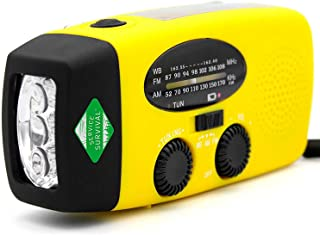 Service Survival Emergency Radio & NOAA Weather Radio, Hand Crank Radio & Battery Powered Radio AM/FM NOAA Solar Radio Weather Radio Weather Radio LED Flashlight USB Power Charger