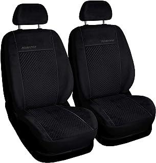 Schwarz-blaue Velours Sitzbezüge für HONDA CRV Autositzbezug VORNE