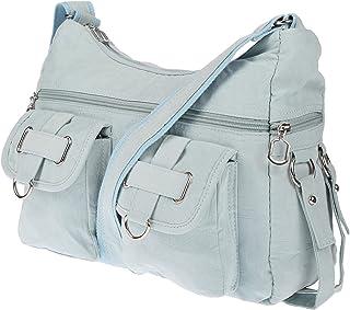 Christian Wippermann Damenhandtasche Schultertasche aus Canvas (Türkis)