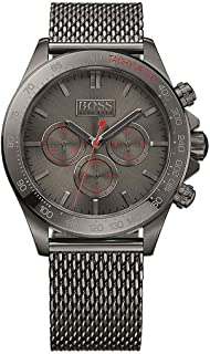Hugo Boss Men's Grey Dial Stainless Steel Band Watch - 1513443