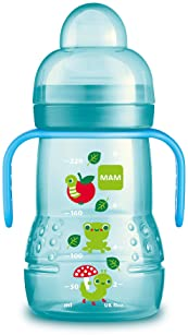 MAM Trainer Cup (1 Count), Trainer Drinking Cup with Extra-Soft Spout, Spill-Free Nipple, and Non-Slip Handles, for B...