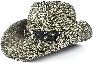 LiWen Zheng New Summer Fashion Cowboy Hat For Men Western Jazz Hat With Bull Head Wide Brim Western Straw Beach Sun Cap